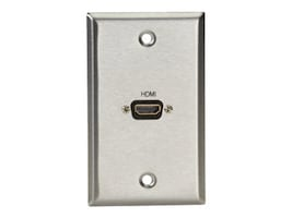 Black Box A V Single-Gang Stainless Wallplate, WP831, 30969058, Premise Wiring Equipment