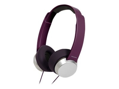 Panasonic Headband Monitor Headphones, Purple Silver, RP-HXD3W-V, 17683602, Headsets (w/ microphone)