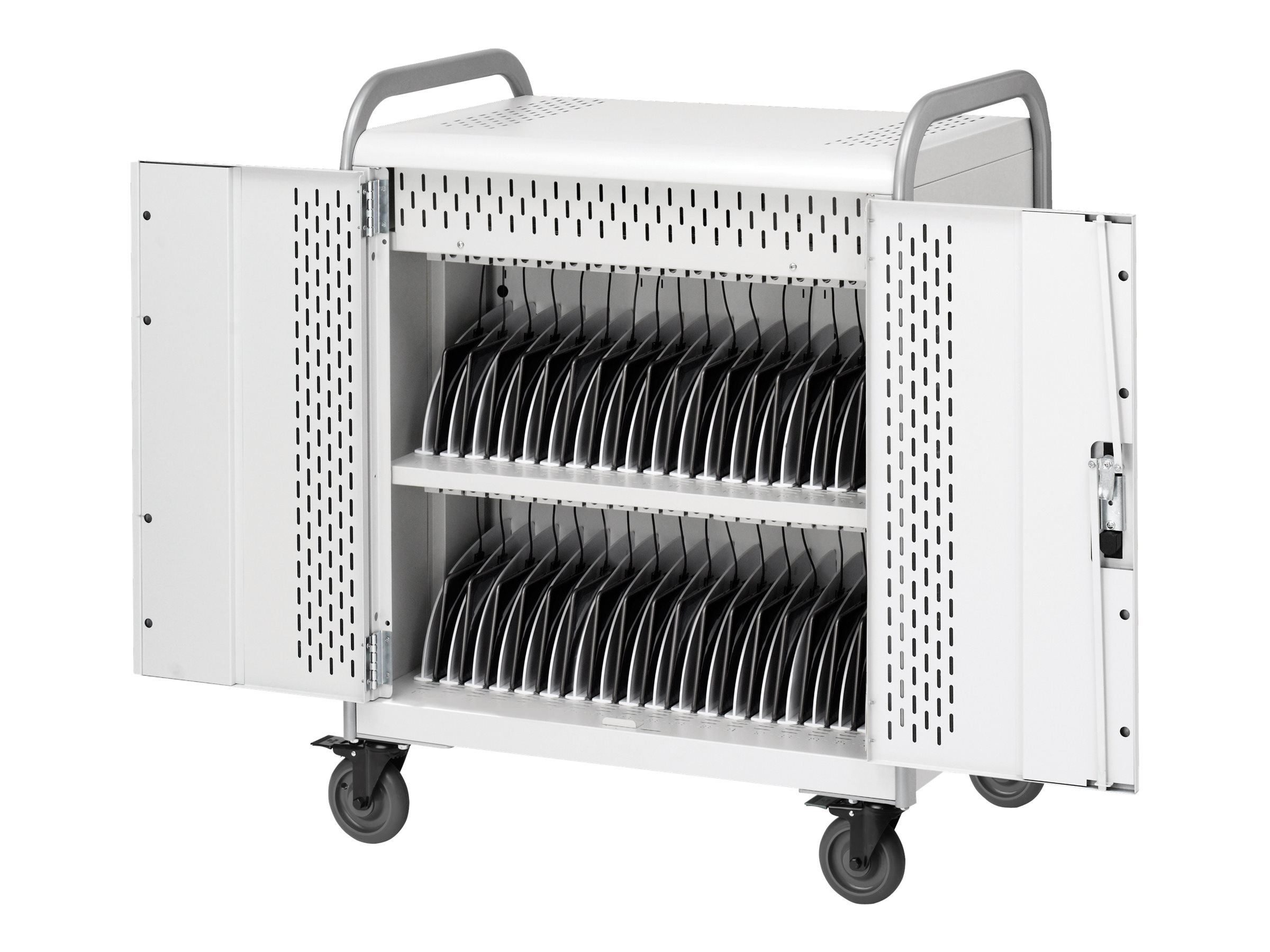 Bretford Manufacturing 36-Unit Chromebook Tablet Cart, MDMTAB36-SPLOCK, 31795248, Computer Carts