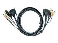 Aten USB Dual Link DVI KVM Cable, 6ft