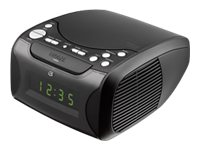 GPX Clock Radio w  CD & Dual Alarm