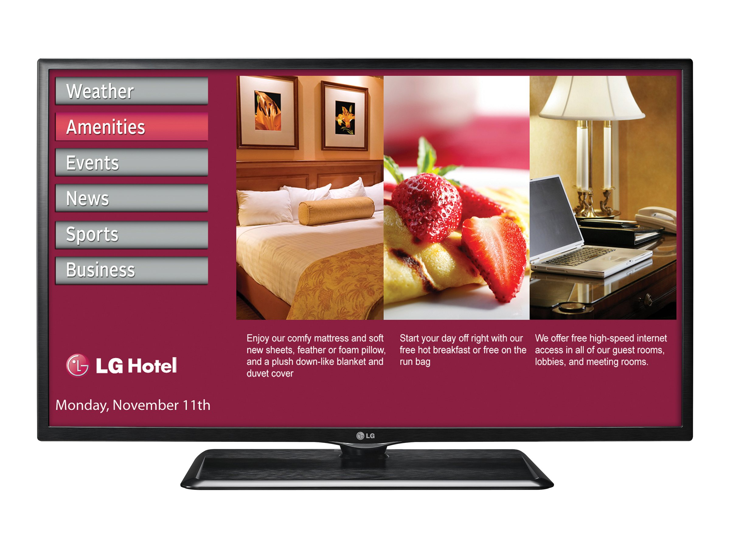 LG 55 LP645H Full HD LED-LCD Hospitality TV, Black, 55LP645H, 16763053, Televisions - LED-LCD Commercial