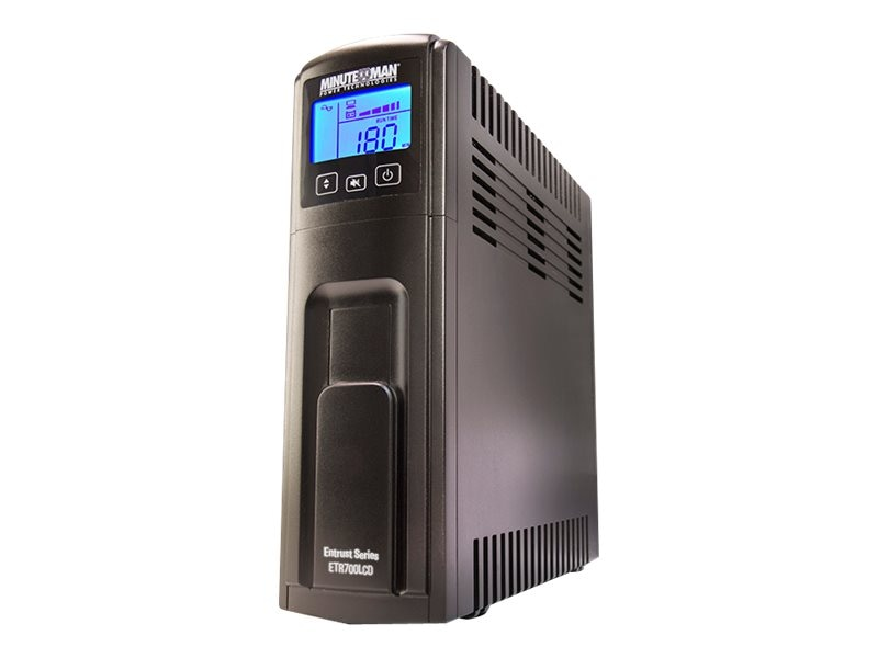 Minuteman Entrust LCD Series 700VA UPS (8) Ports, USB, ETR700LCD, 30678832, Battery Backup/UPS