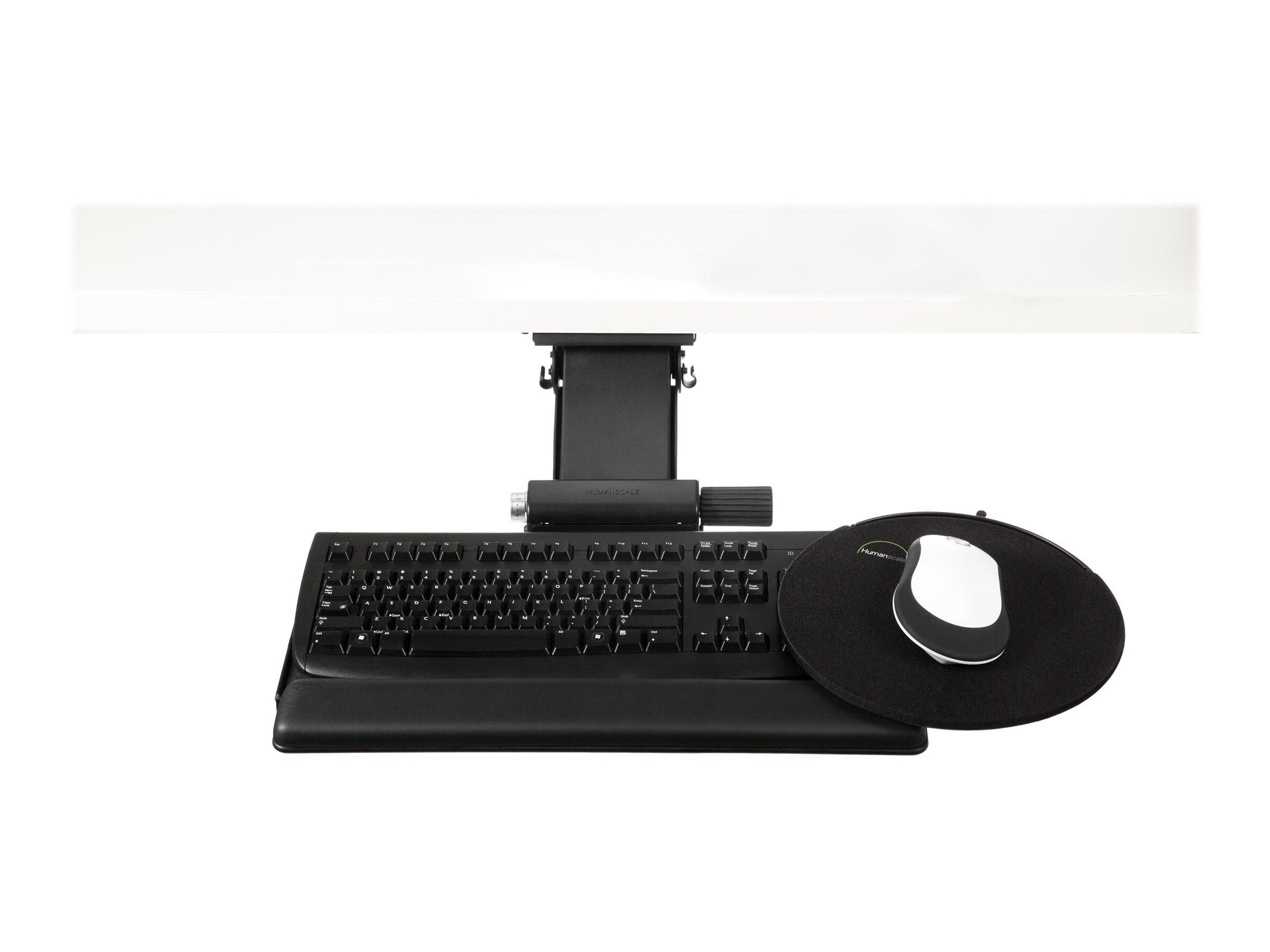 Humanscale 6G Keyboard Mechanism, 900 Keyboard Platform, 8.5 High Clip Mouse, 22 Track, 6G90090H, 16917770, Cart & Wall Station Accessories