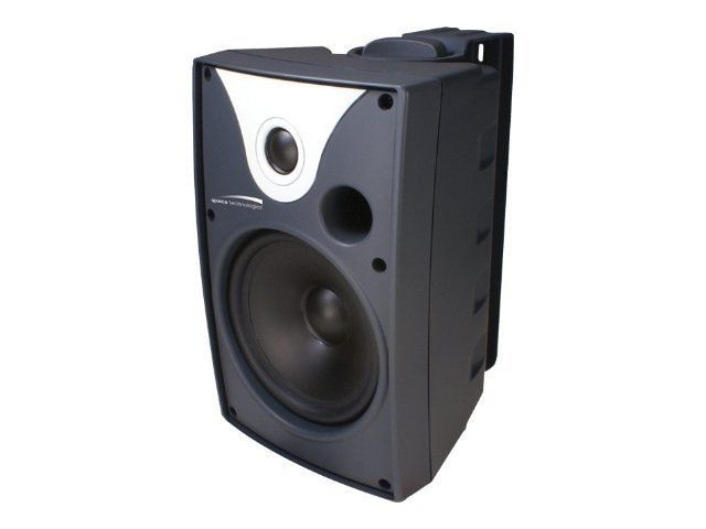 Speco Outdoor Speaker Pair, Black, 6.5