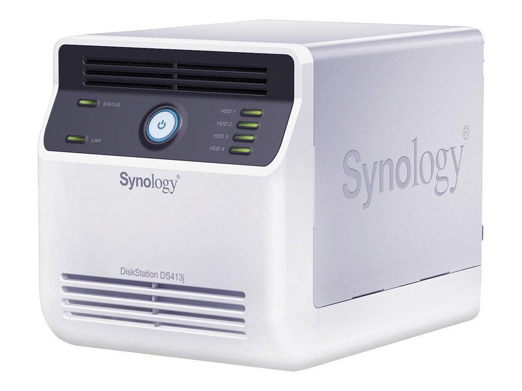 Synology DiskStation 4-BAY NAS,2X USB 2.0 PORTS,DDR3 512MB, DS413J, 14667893, Network Attached Storage