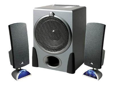 Cyber Acoustics Black 3-piece 2.1 Speaker System, CA3550RB, 6164129, Speakers - Audio