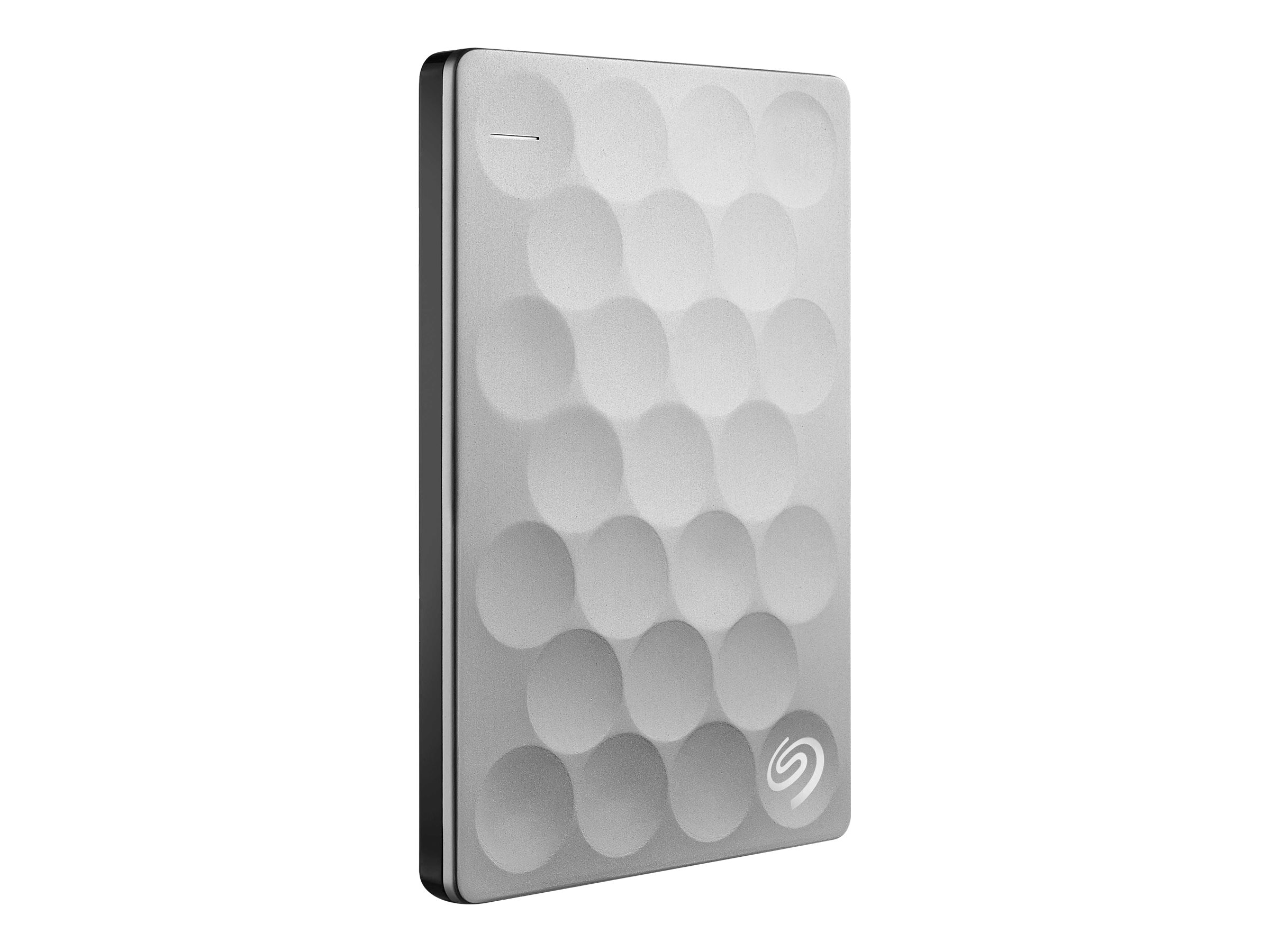 Seagate 2TB BackupPlus Ultra Slim External Hard Drive - Platinum, STEH2000100, 31604106, Hard Drives - External