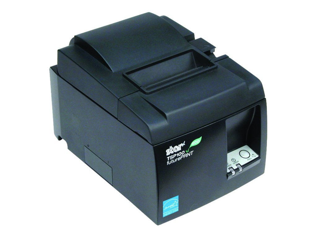Star Micronics TSP143IIU ECO USB Thermal Printer - Gray w  Cutter, Internal Power Supply & Cables, 39464011