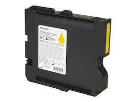 Ricoh Yellow GC 31YH High Yield Print Cartridge, 405704, 11139690, Ink Cartridges & Ink Refill Kits
