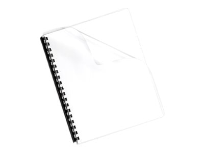 Fellowes Clear PrePunched Binding Covers