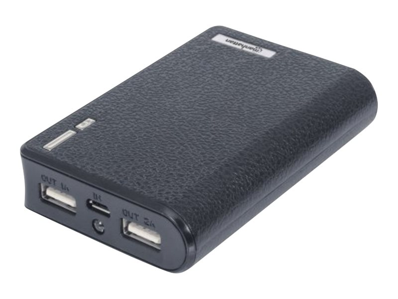 Manhattan Power Bank 6K Portable Lithium-ion Battery, Dual USB Output, 6000mAh, 411097, 18036301, Batteries - Other