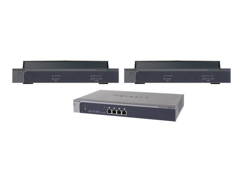 Netgear ProSafe 16-AP Wireless Management System with 2 WNDAP350 Dual Band Wireless-N Access Points
