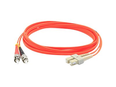 ACP-EP ST-SC 62.5 125 OM1 Multimode LSZH Duplex Fiber Cable, Orange, 2m
