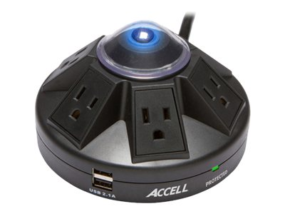 Accell Powramid Power Center and USB Charging Station, D080B-015K, 17690511, Power Strips
