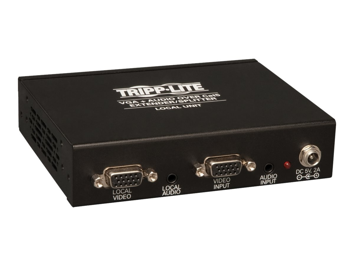 Tripp Lite 4-Port VGA with Audio over Cat5   Cat6 Extender Splitter, Transmitter with EDID Copy, B132-004A-2
