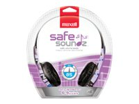 Maxell Safe Soundz Headphones, Ages 6-9, Girl, Purple, 190296