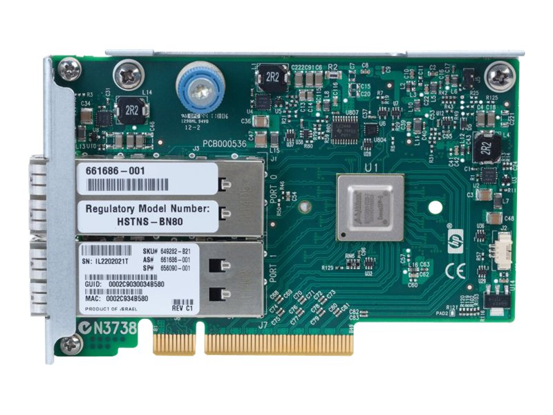 HPE IB FDR EN 10 40GB 2Pt. 544Q-SFP Adapter, 649281-B21, 13420848, Network Transceivers