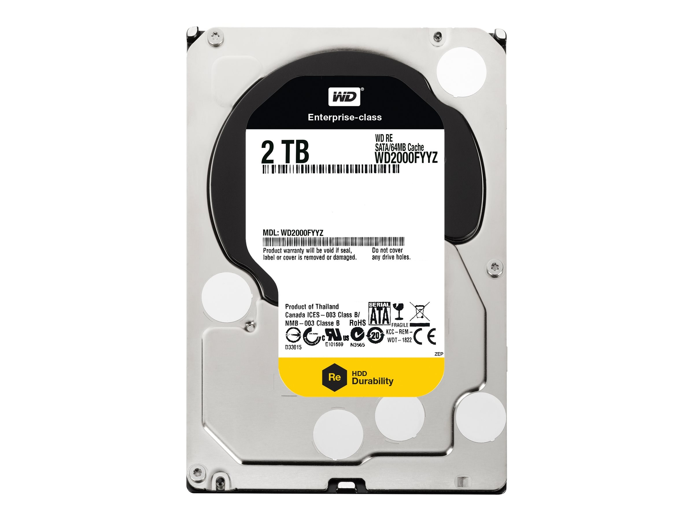 WD 2TB WD RE SATA 6Gb s 3.5 Enterprise Hard Drive, WD2000FYYZ