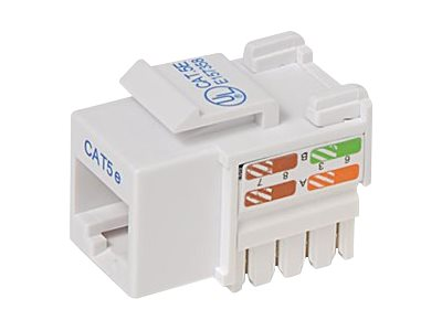Belkin Cat5e Keystone Jack, 568A 568B, White (25-Pack)
