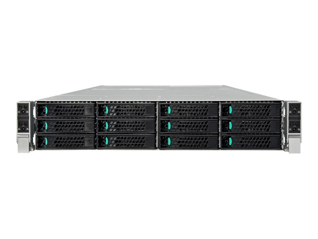 Intel Server System 2U Rack Chassis No CPU 0MB Hot-swap 2.5 SATA No HDD Gigabit Ethernet, H2312WPQJR, 13626686, Barebones Systems