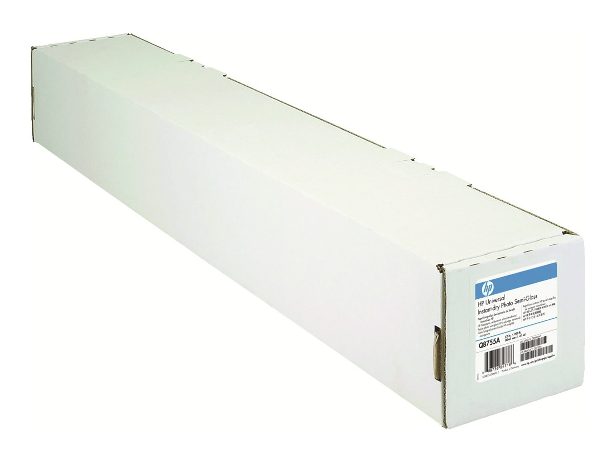 HP 42 x 200' Universal Instant-dry Semi-gloss Photo Paper, Q8755A