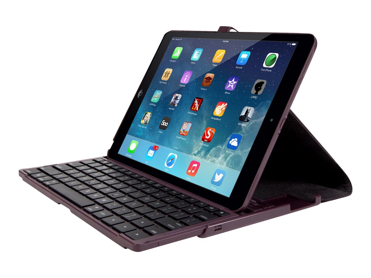 Targus Versavu Keyboard Case for iPad Air 5th Generation 9.7, Black, THZ19201US, 16282516, Carrying Cases - Tablets & eReaders