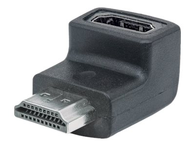 Manhattan HDMI A to HDMI A M F Upward 90 Degree Adapter, Black, 353519, 28505975, Adapters & Port Converters
