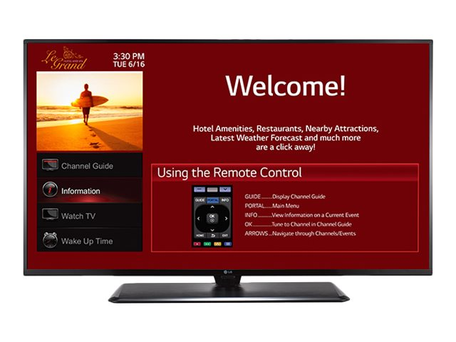 LG 64.5 LX770H Full HD LED-LCD Hospitality Smart TV, Black, 65LX770H
