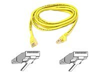 Belkin Cat5e Patch Cable, Yellow, Snagless, 7ft