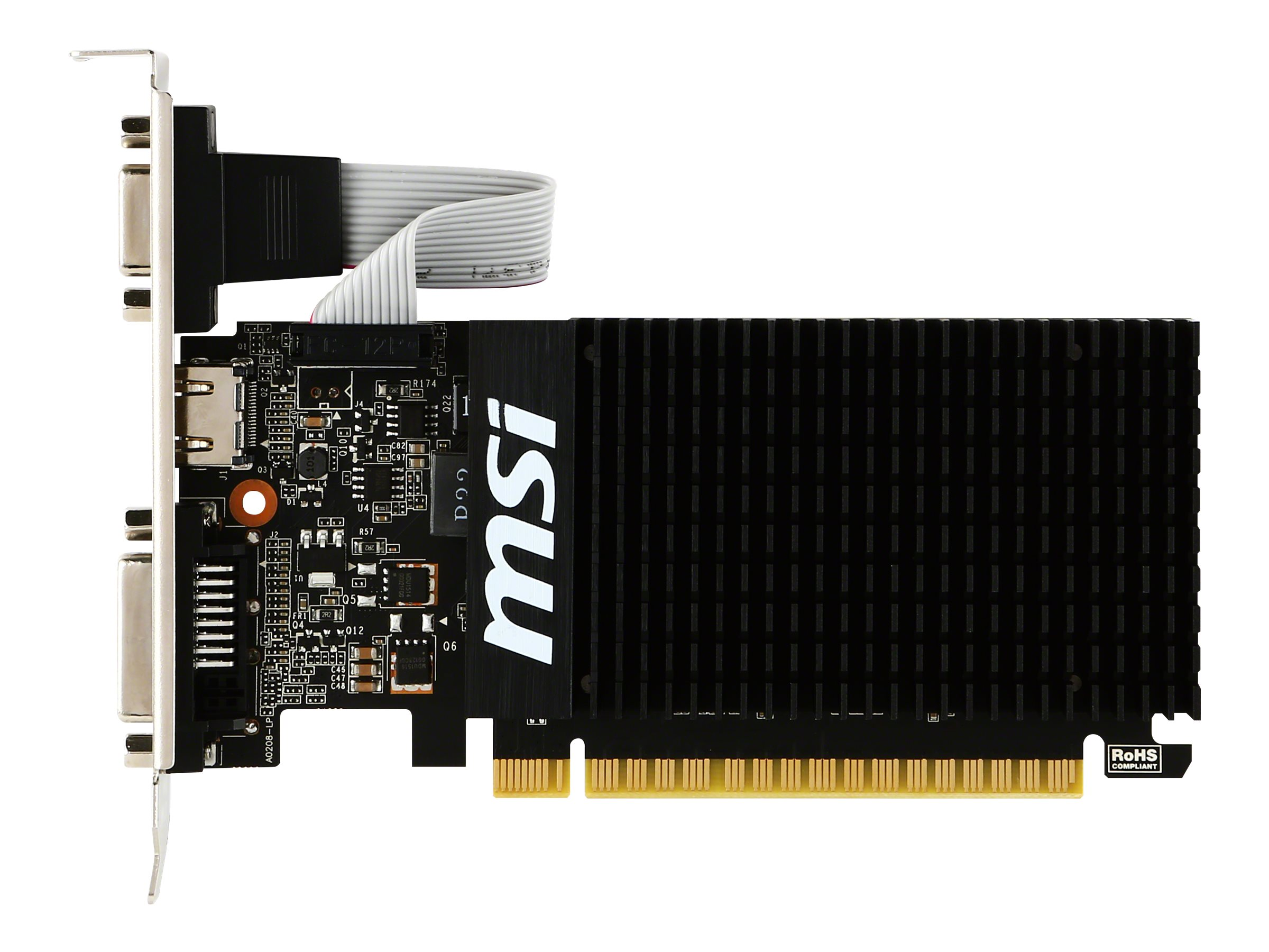 Microstar GeForce GT 710 PCIe 2.0 x8 Graphics Card, 2GB DDR3, GT 710 2GD3H LP, 31432893, Graphics/Video Accelerators