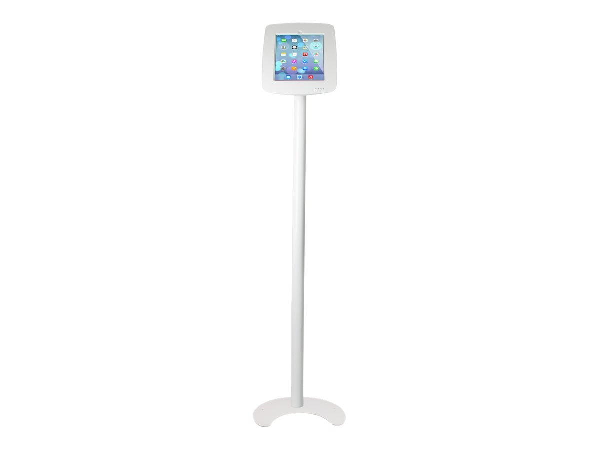 Joy Factory Elevate Aloft Floor Standing Kiosk for iPad Air Air 2, iPad 2 3 4, White