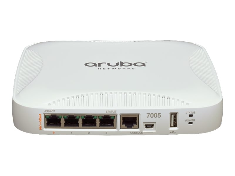 Aruba Networks 7005 Mobility Controller w 4x10 100 1000Base-T Ports & up to 16APs, 7005-USF1, 31047231, Network Routers