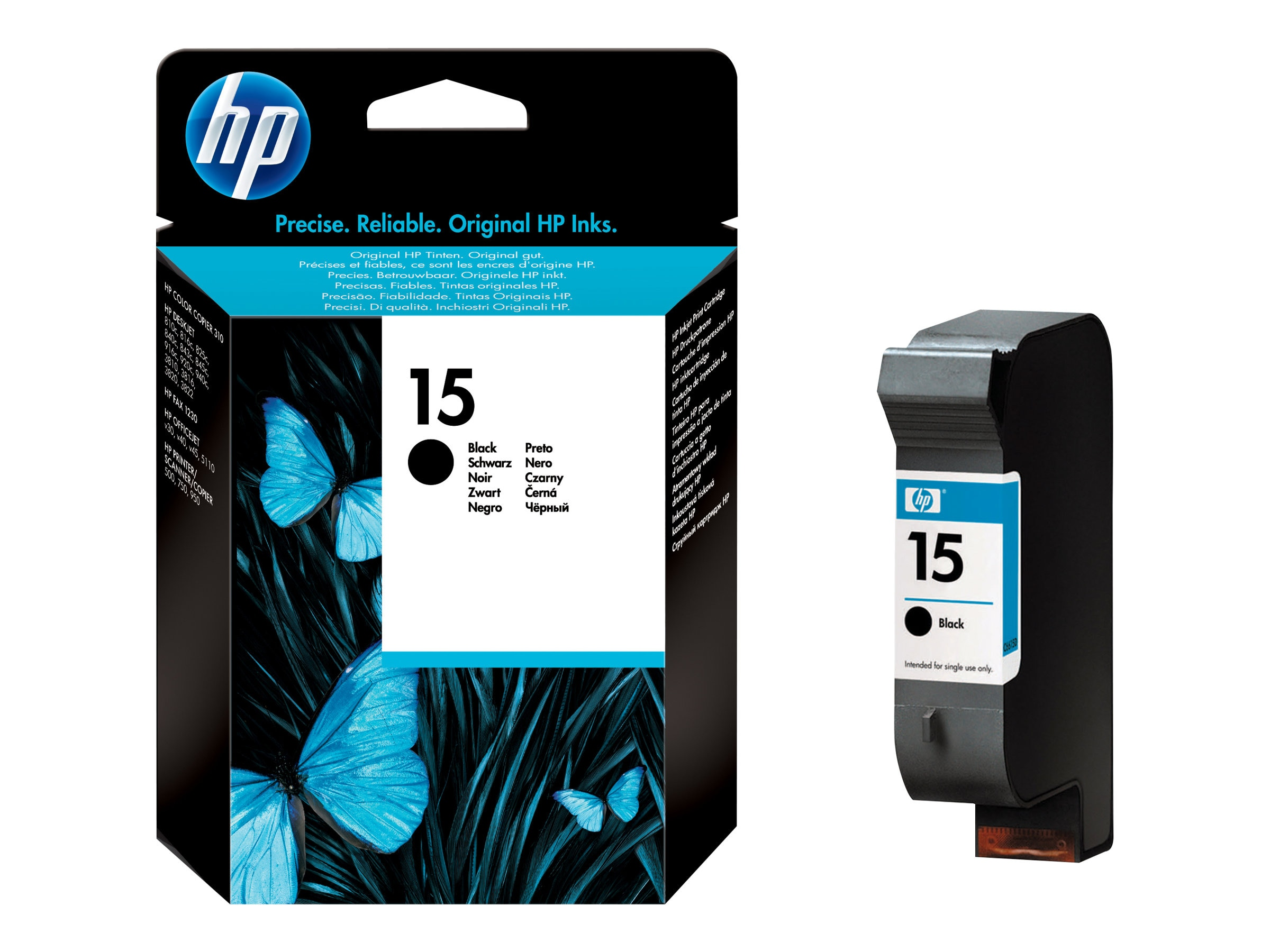 HP 15 (C6615DN) Black Original Ink Cartridge