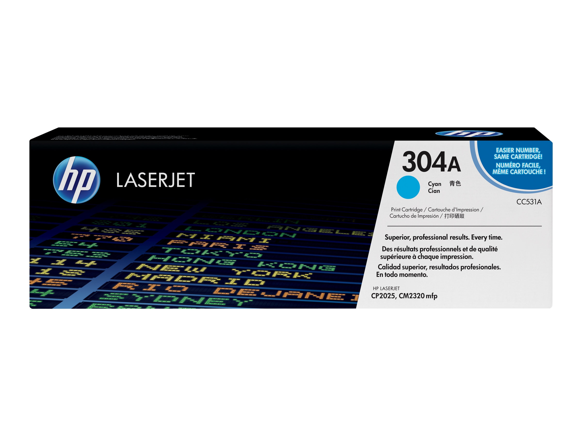 HP 304A (CC531AG) Cyan Original LaserJet Toner Cartridge for US Government (TAA Compliant), CC531AG, 12224116, Toner and Imaging Components