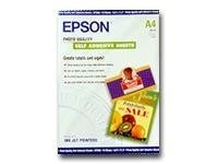Epson Photo Quality Self-Adhesive A4 size sheets (10), S041106, 39695, Paper, Labels & Other Print Media