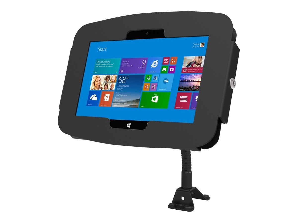 Compulocks Surface Pro 3 Space Enclosure with Tablet Kiosk Flexible Arm Mount, Black, 159B530GEB, 17861843, Security Hardware