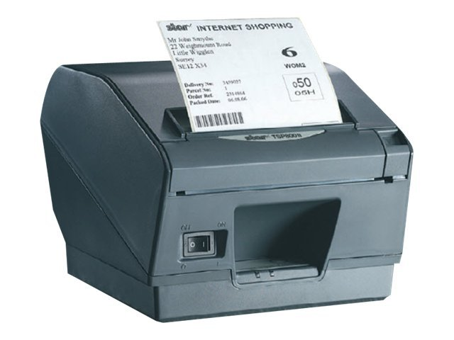 Star Micronics TSP847UIIRX Thermal 2-Color USB Printer - Gray w  Cutter, Tear Bar & Power Supply, 37962300, 12039842, Printers - POS Receipt
