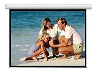 Draper AccuScreen Electric Projection Screen with IR Remote, 4:3, 7', 800009, 7439841, Projector Screens