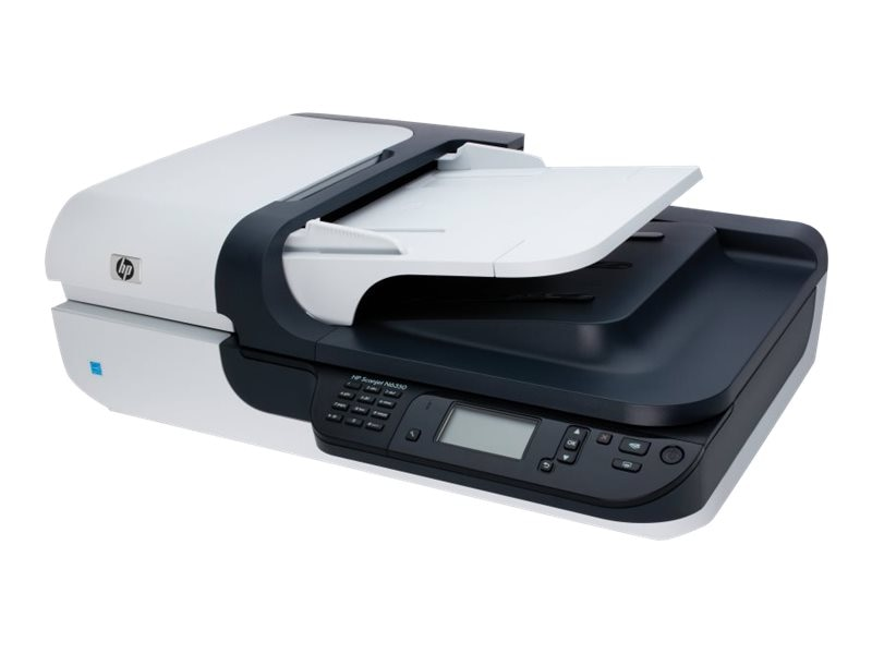 HP Scanjet N6350 Networked Document Flatbed Scanner, L2703A#BGJ, 9965941, Scanners