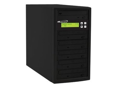 Vinpower ECON 1:5 24x DVD Tower Duplicator, ECON-S5T-DVD-BK
