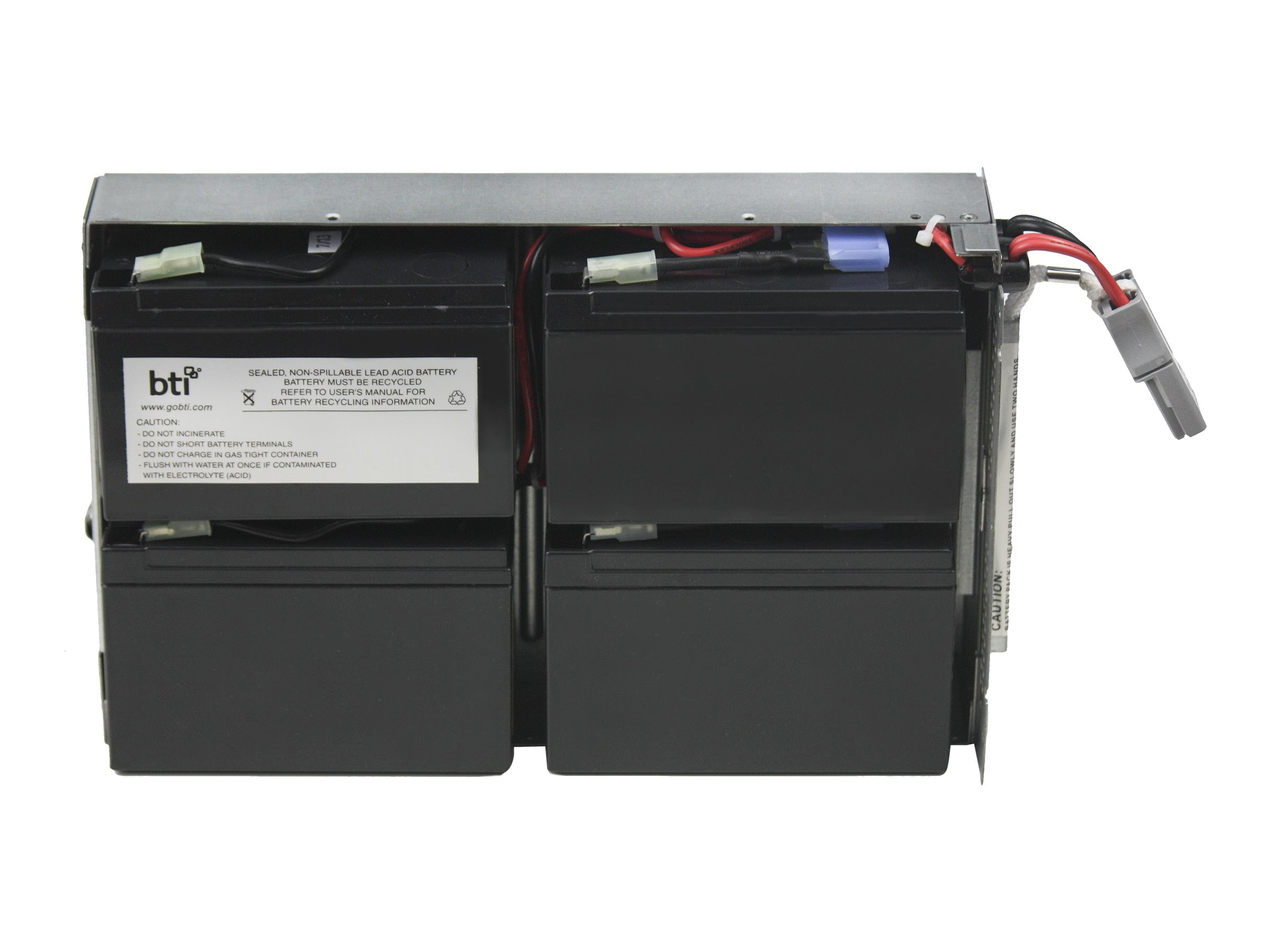 BTI Replacement UPS Battery for APC SMT1000RM2U RBC132 APCRBC132, APCRBC132-SLA132