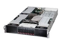 Supermicro SuperServer 2027GR 2U RM Xeon E5-2600 Family Max.256GB DDR3 10x2.5 HS Bays 7xPCIe 2x10GbE 1800W RPS