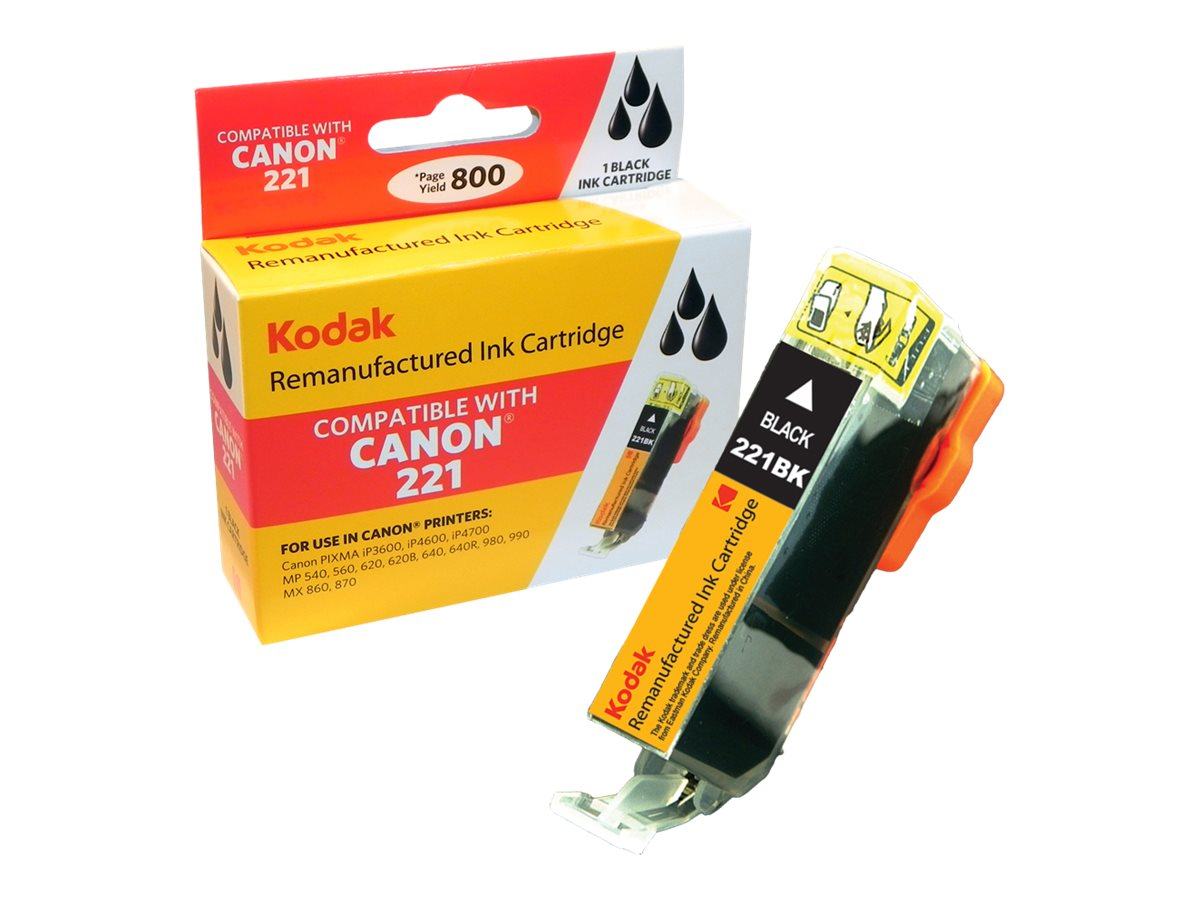 Kodak 2946B001 Black Ink Cartridge for Canon, CLI-221BK-KD
