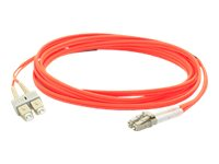 ACP-EP LC-SC 62.5 125 OM1 Multimode LSZH Duplex Fiber Cable, Orange, 0.5m