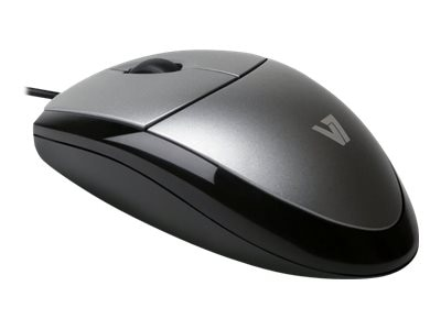 V7 MV3000 3-Button USB Wired Optical Full-size Mouse 1000dpi Universal