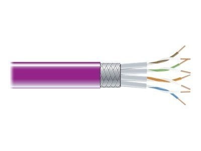 Black Box CAT6 250MHz Stranded Bulk Patch Cable, Violet, 1000ft