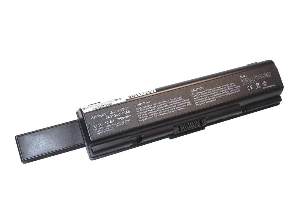 Ereplacements High capacity for battery for Toshiba Satellite A200, A205, A210, A215, A300, L300, M200, PA3535U-1BRS-ER, 12451765, Batteries - Notebook