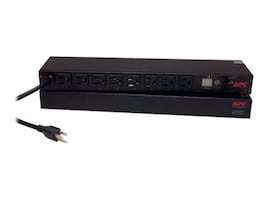 APC Switched Rack Power Distribution Unit 1U 5-15P Input 12ft Cord (8) 5-15R Outlets, AP7900B, 33525401, Power Distribution Units