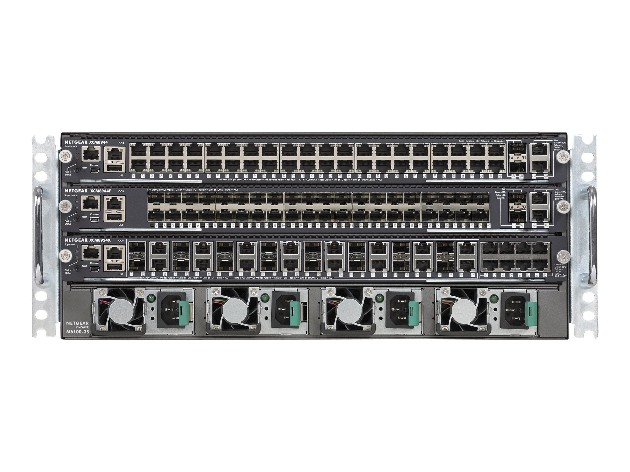 Netgear M6100-44GF3  Chassis Starter Kit Bundle, XCM8903SF-10000S, 24631763, Network Switches
